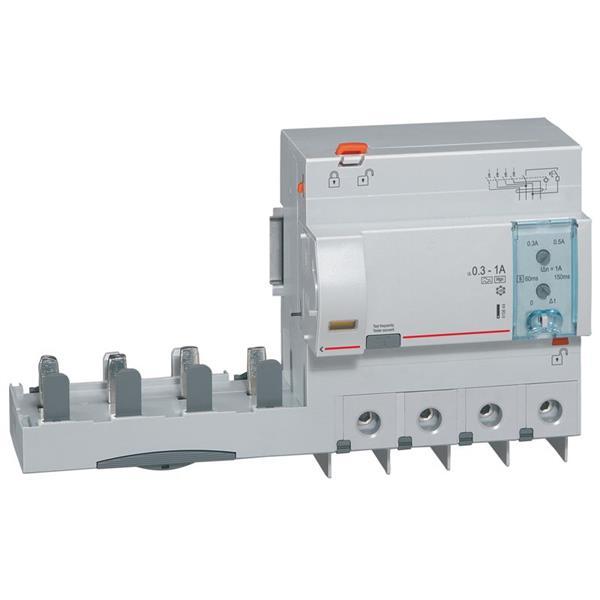LEGRAND - Bda DX³ 4P 125A Hpi réglable 300-1000mA - 1.5mod/p - 6 modules