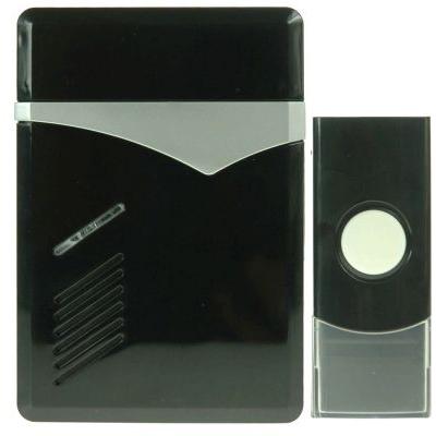 ELIMEX BVBA - Carillon sur piles avec témoin LED + Bouton poussoir - Noir