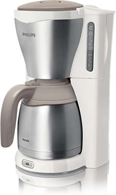 PHILIPS - Koffiezetapparaat Café Gaia met thermoskan - 1,2l - metaal