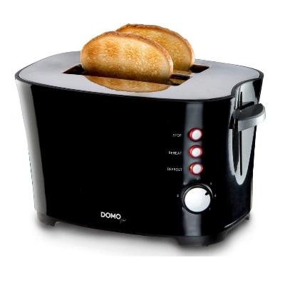 Domo - Grille-pain B-Smart - 2 fentes - 7 niveaux - Cool touch - noir