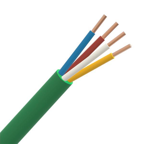 CABLEBEL - SGG câble signalisation LS0H intérieur 150V F2 groen 2X0,8mm