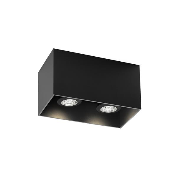 WEVER & DUCRE - BOX 2.0 PAR16 textuur zwart GU10 plafond binnen