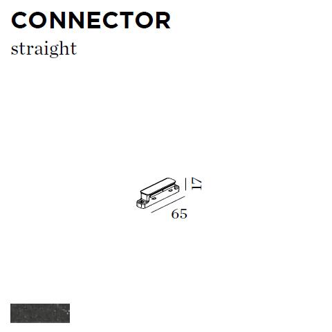 WEVER & DUCRE - CONNECTOR STRAIGHT 65x17x65mm zwart