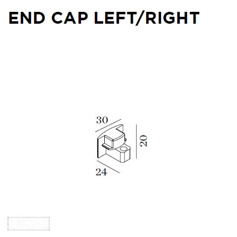 WEVER & DUCRE - END CAP G41 24x20x30mm wit