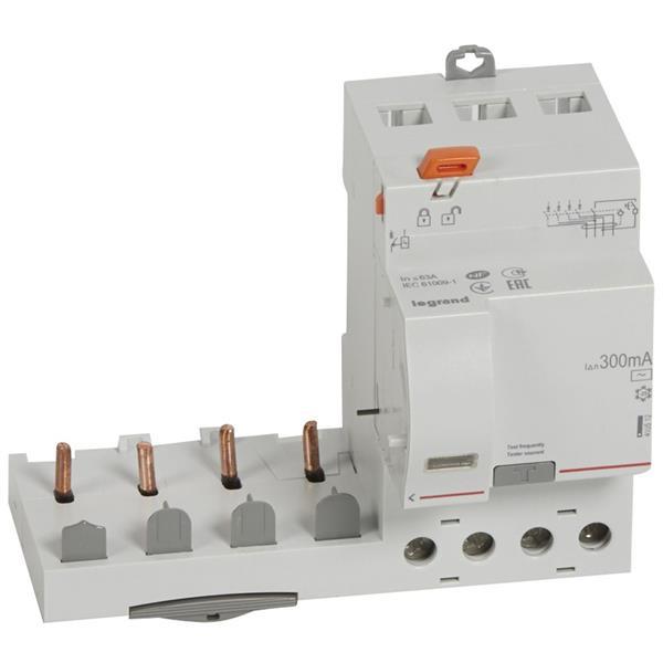 LEGRAND - Bloc différentiel DX³ 4P 300mA 63A Type AC - 4 modules
