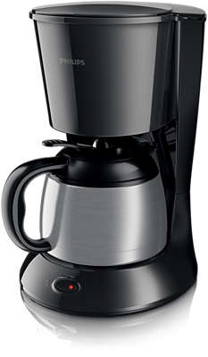 PHILIPS - Cafetière Daily Collection avec verseuse isotherme - 1l - noir