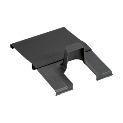 PANDUIT - Spill-Over Junction with 2x2 Exit Cover, 12x4 Channel BLACK