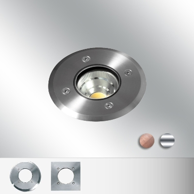 Bel-Lighting - Bolas Led spot encastre rond 1x10,5W blanc chaud  500mA lentille 50° D100 inox