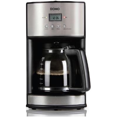 Domo - Cafetière avec minuteur - 1,8l - inox