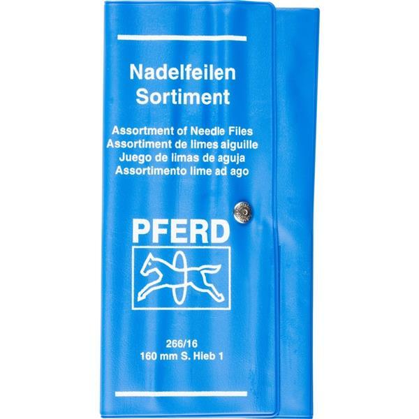 PFERD-RUGGEBERG-BENELUX - Vijl, Naald, Pferd, halfzoet, Set 12 Vormen, L 160 mm, kunststof Etui