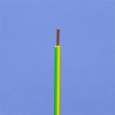 CABLEBEL - VTB H05V-U fil d'installation massif PVC vert/jaune 1mm²
