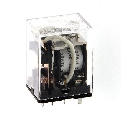 OMRON - Vermogensrelais, 12 VDC, 2 x wissel, 10 A, voor aansluitvoet