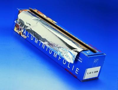 PAPIERWAREN - Rouleau Aluminium, Recharge Wrapmaster, Aluminium, 45cm x 200m, 14µ, 3 Rouleaux