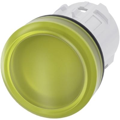 SIEMENS - Signaallamp, 22mm, rond, kunststof, geel, gladde lens