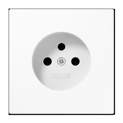 Jung - Plaque central pour prise 2P+A(broche) LS blanc alpin