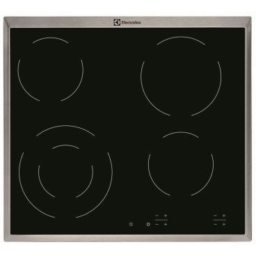 Electrolux - Kookplaat vitrokeramisch, 4 zones, 60cm, TouchControl, inox rand