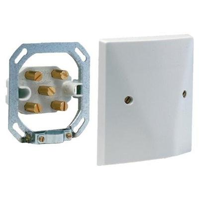 VYNCKIER - Aansluitdoos 6mm² 3P+N+A met 5 klemmen grijs (neus)