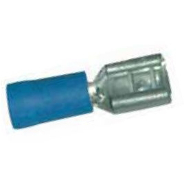 SICAME - Vlaksteker geïsoleerd PVC geel 4-6mm² breedte/dikte stekker 6,35/0,8mm