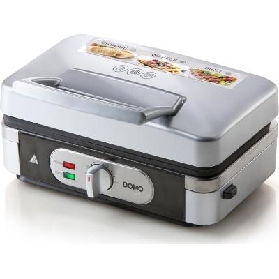 Domo - Snackmaker 3-en-1 - 1000W - croque / gauffre / grill