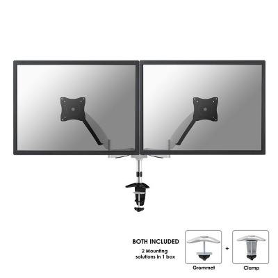 NewStar - Support de bureau - 2 écrans - turn 180°/tilt 130° - 10-27inch - 9kg - pince