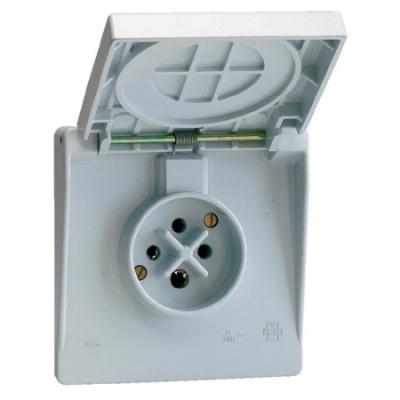 VYNCKIER - Waterdichte contactdoos 3P+A 16A IP44 grijs