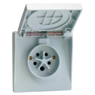 VYNCKIER - Waterdichte contactdoos 3P+N+A 16A IP44 grijs