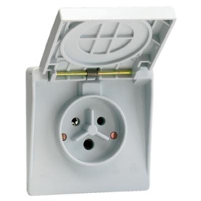 VYNCKIER - Waterdichte contactdoos 2P+A 32A IP44 grijs