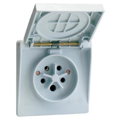 VYNCKIER - Waterdichte contactdoos 3P+N+A 32A IP44 grijs