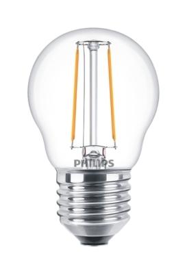 PHILIPS - CLA LED luster 2-25W E27 P45 230V 2700K 250lm CRI80 Clair 15000h