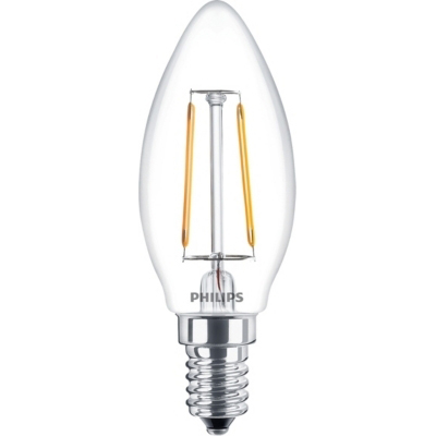 PHILIPS - CLA LED candle 2-25W E14 B35 230V 2700K 250lm CRI80 Clair 15000h