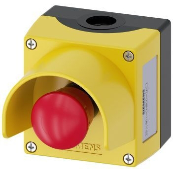 SIEMENS - ENCLOSURE FOR COMMAND DEVICES, 22MM, ROUND, ENCLOSURE MATERIAL PLASTIC,