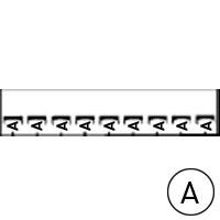 LEGRAND - Mémocab merkteken - letter A - zwart/witte achtergrond - 2,3 mm