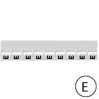 LEGRAND - Repère Mémocab - lettre E noir sur fond blanc - 2,3 mm