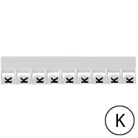 LEGRAND - Repère Mémocab - lettre K noir sur fond blanc - 2,3 mm