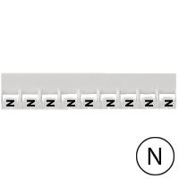 LEGRAND - Repère Mémocab - lettre N noir sur fond blanc - 2,3 mm