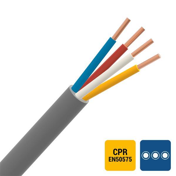 CABLEBEL - SVV signalisatiekabel PVC binnen 150V Cca s3d2a3 grijs 8X0,8mm