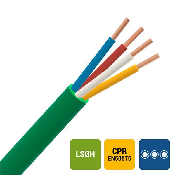 CABLEBEL - SGG signalisatiekabel LS0H binnen 150V Cca s1d2a1 groen 4X0,8mm