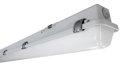 TECHNOLUX - Waterdicht armatuur methacrylaat LED 14W 4000K 1550lm 600mm IP65 INOX clips