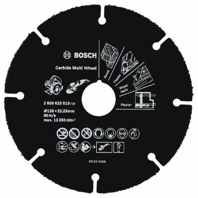 BOSCH - Disque Carbide Multi Wheel Ø 125mm, alésage 22,23mm, épaisseur 1,0mm