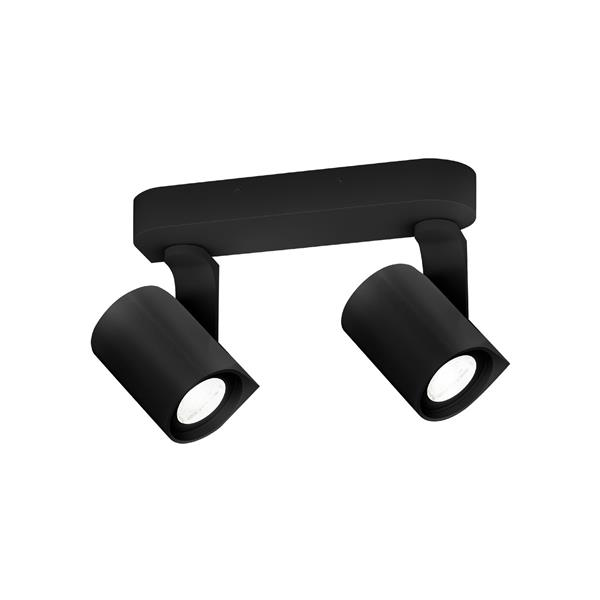 WEVER & DUCRE - SQUBE ON BASE #2 PAR16 textuur zwart GU10 55mm IP20