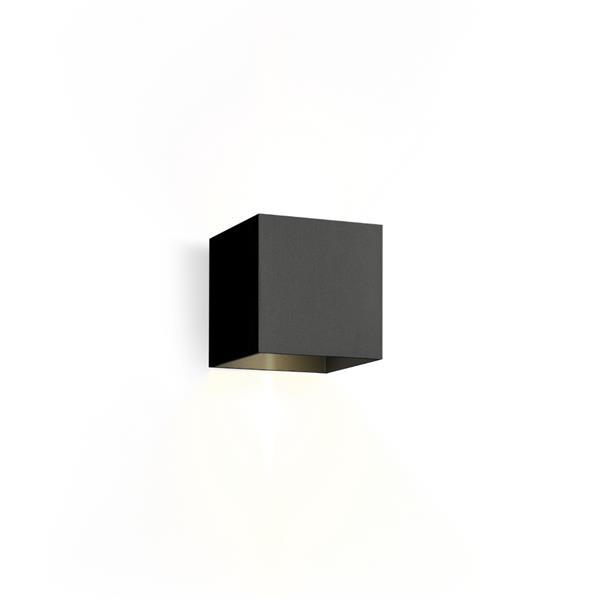 WEVER & DUCRE - BOX 2.0 LED textuur zwart 3000K muur buiten
