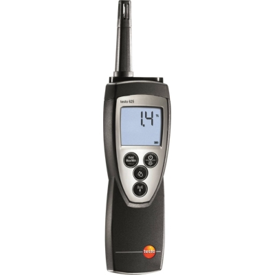 measuring instruments - Testo 625, vocht-temperatuurapparaat+opsteekbare vochtvoelerkop+batterij+kalibra
