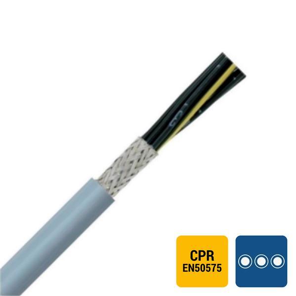 SPECIALE KABEL - LIYCY PVC afgeschermd grijs genummerd Cca s3d2a3 4G0,75mm²