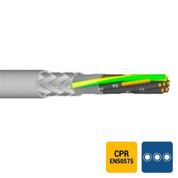 SPECIALE KABEL - LIYCY PVC afgeschermd grijs genummerd Cca s3d2a3 5G0,75mm²