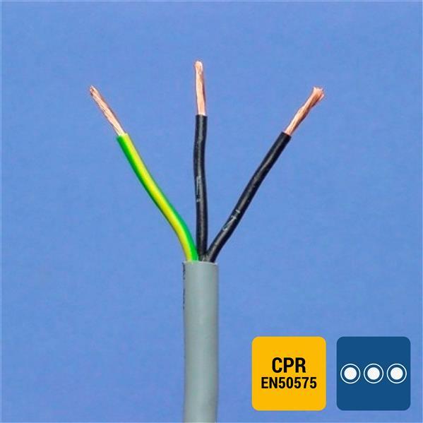 SPECIALE KABEL - LIYY PVC grijs genummerd Cca s3d2a3 3G0,75mm²