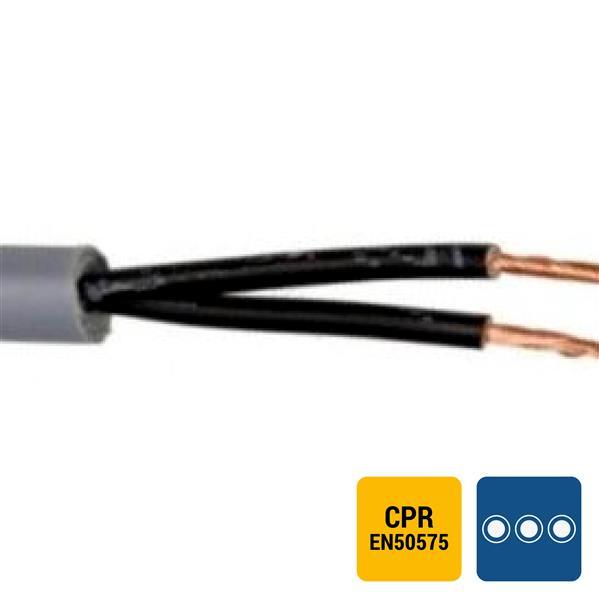 SPECIALE KABEL - LIYY PVC grijs genummerd Cca s3d2a3 2X0,75mm²