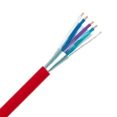 SPECIALE KABEL - TVVF telefonie PVC globaal afgeschermd binnen 150V Cca s3d2a3 rood 1X4X0,8mm