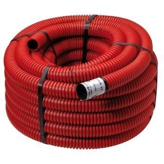 DYKA PLASTICS - Tube de disponibilité PEHD diamètre 125m  - avec manchon - longueur 50m - roug