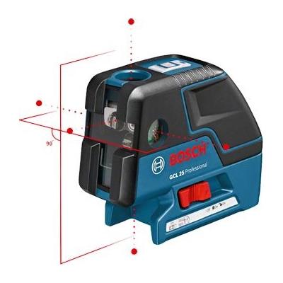 BOSCH - Laser croix/point GCL 25 Professional + 4 piles AA, platine de mesure laser, sac