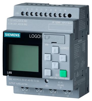 SIEMENS - LOGO! 8.2 12/24RCE, 12/24VDC/relay, 8DI (4AI)/4DO